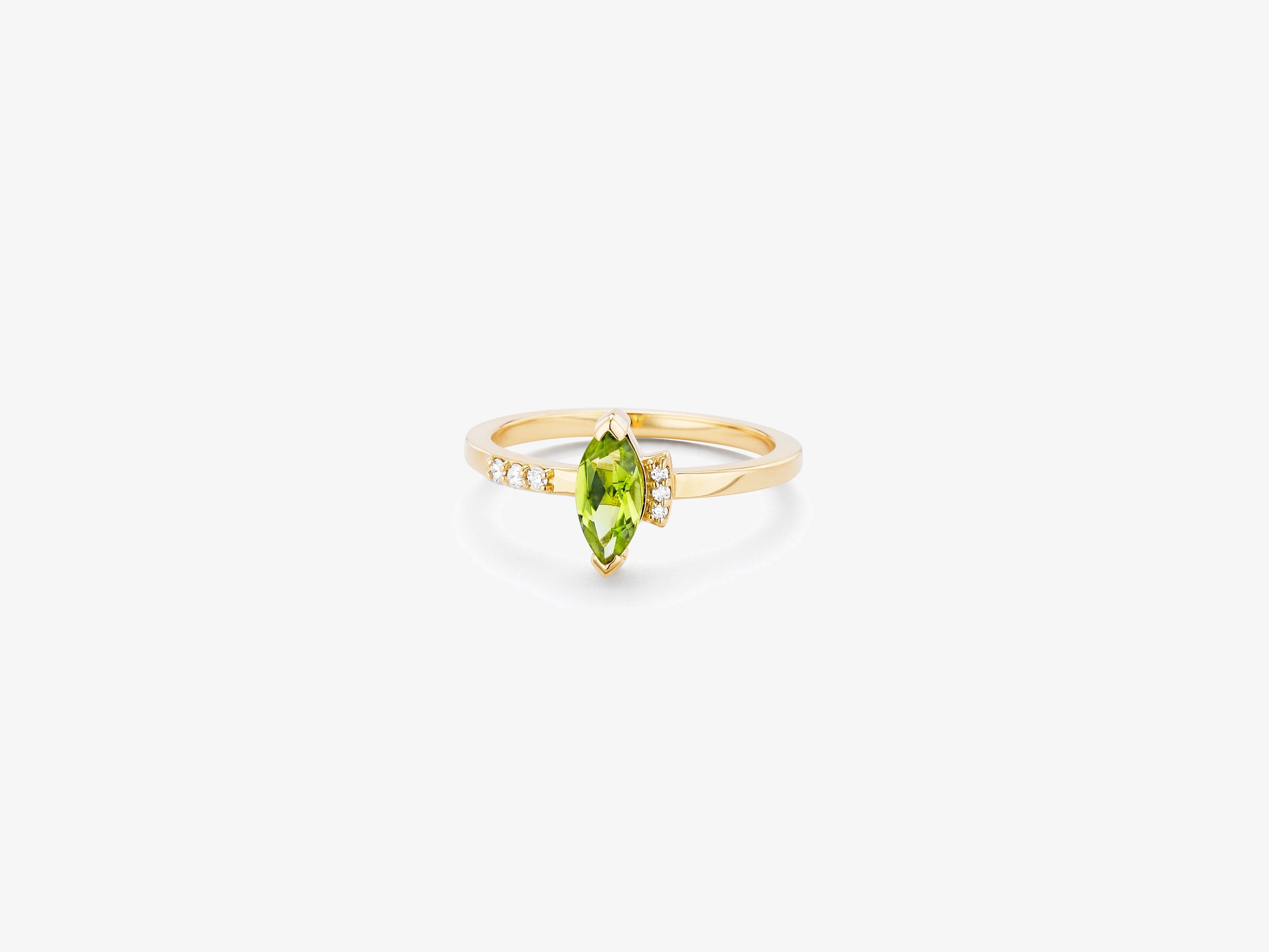 Sprinkle of Diamond Pave Band Ring with Marquise Gemstone Detail