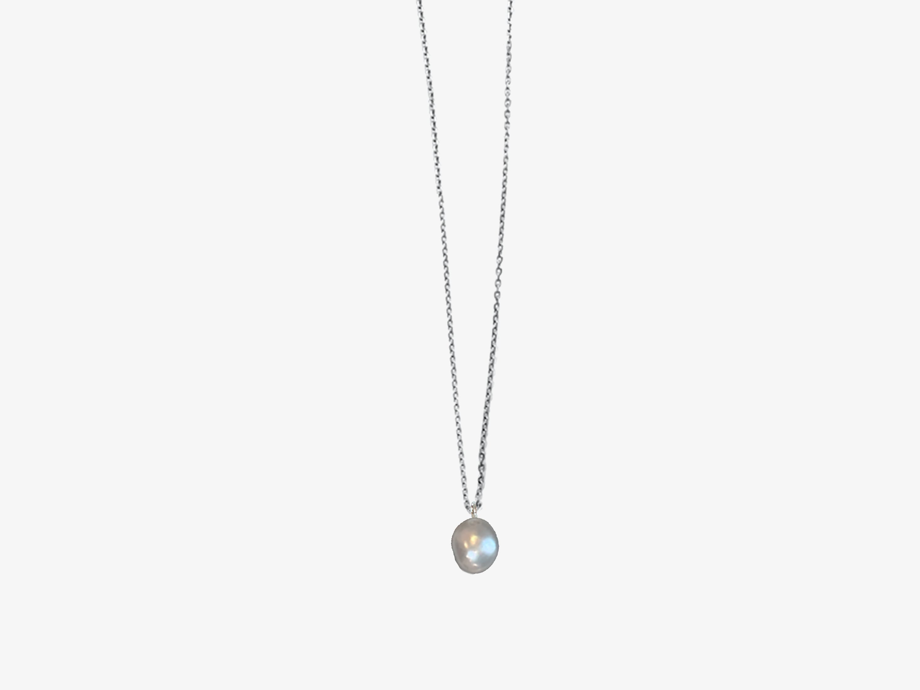 Pearl Aura Crystal Pendant Necklace