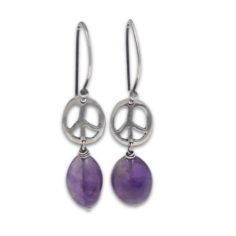 Peace Cutout Earrings