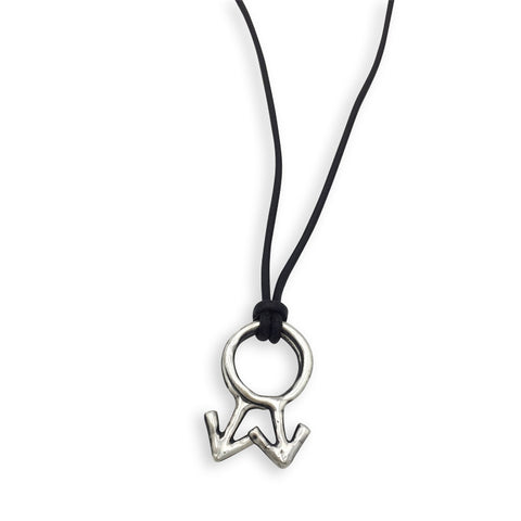 Double Male Symbol Necklace