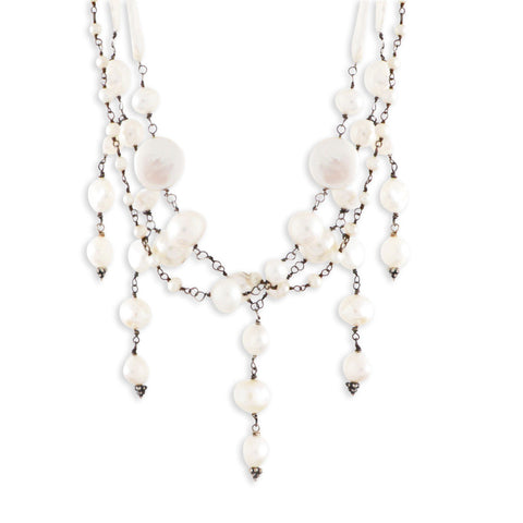 Beaded Pearl Collar