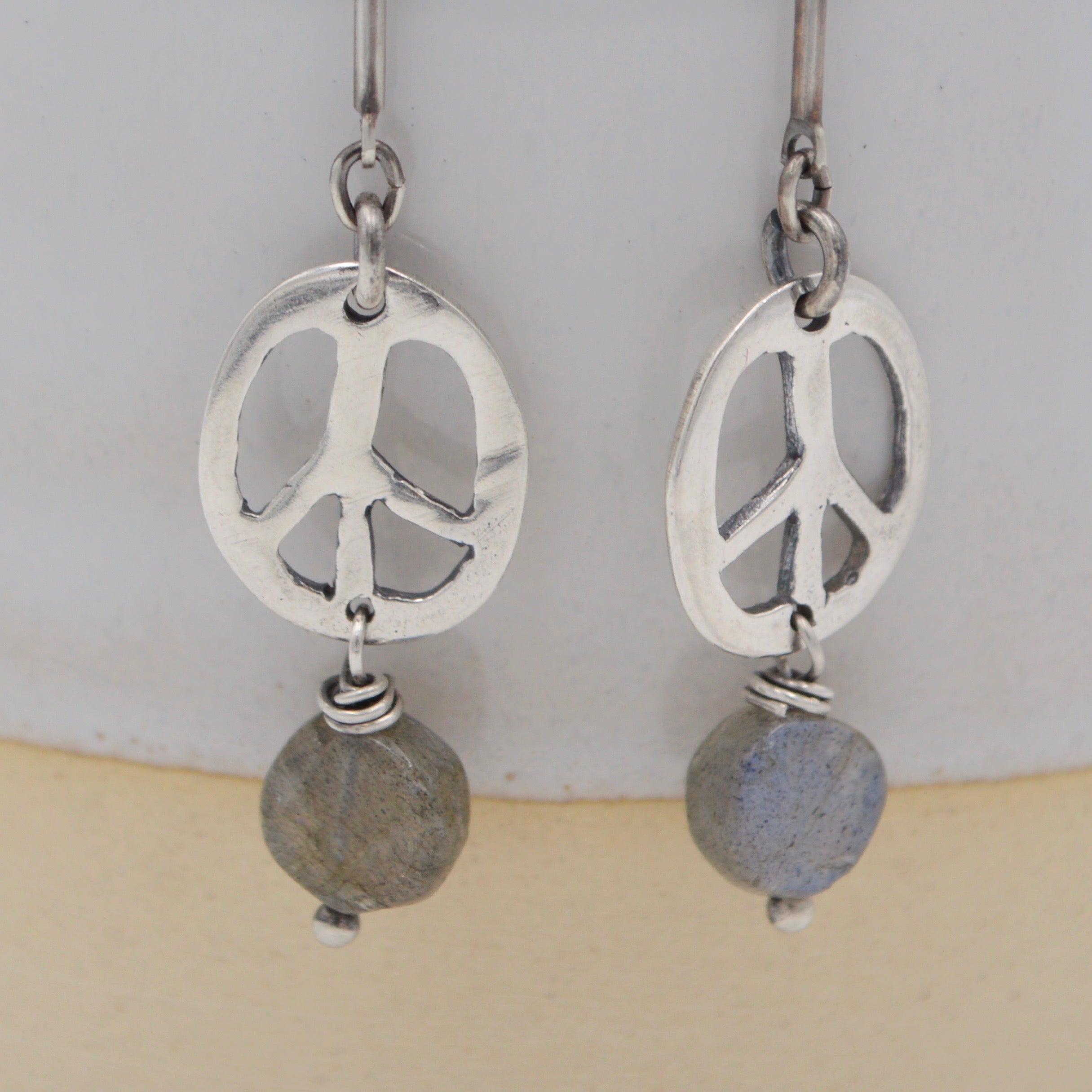 Peace Cut Out on Long and short chain
