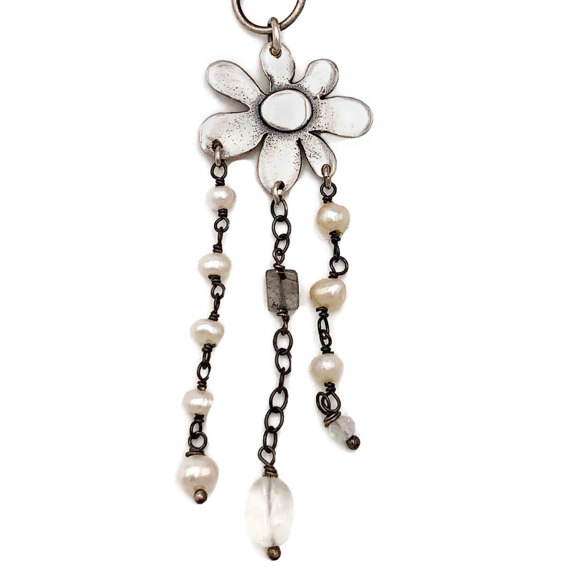 Spring Bloom on Rosary Chain With Beads Attached