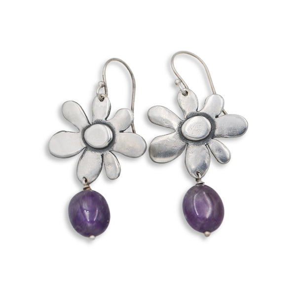 Spring Bloom with Polished Gemstone