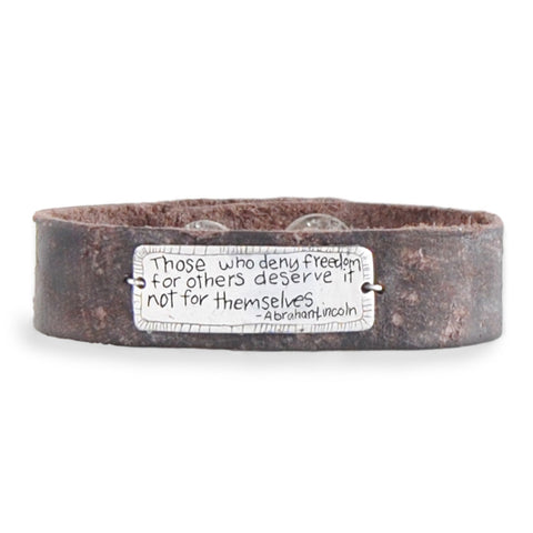 Freedom Leather Cuff