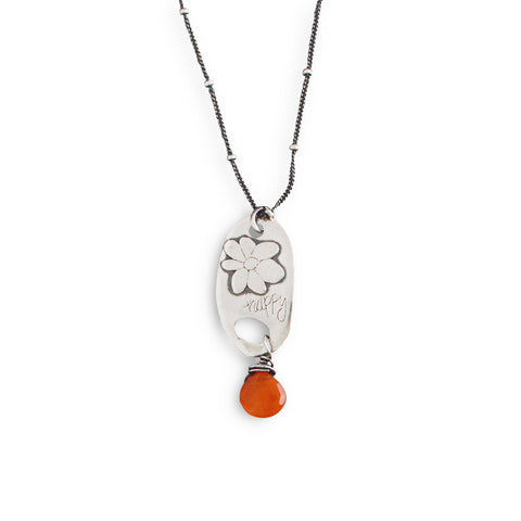 Happy Flower with Carnelian Necklace