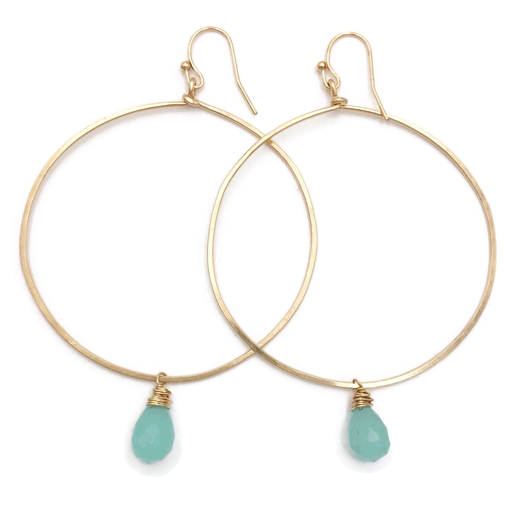 Hammered Gold Filled Hoops