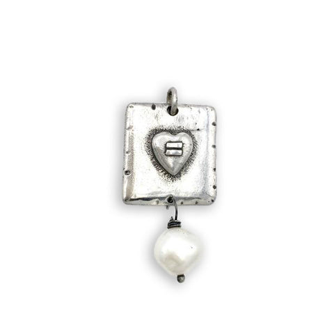 Square Equals Heart Charm