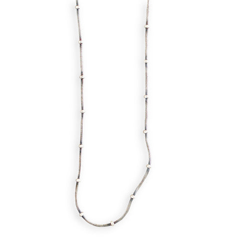 Snake and Ball Chain Necklace