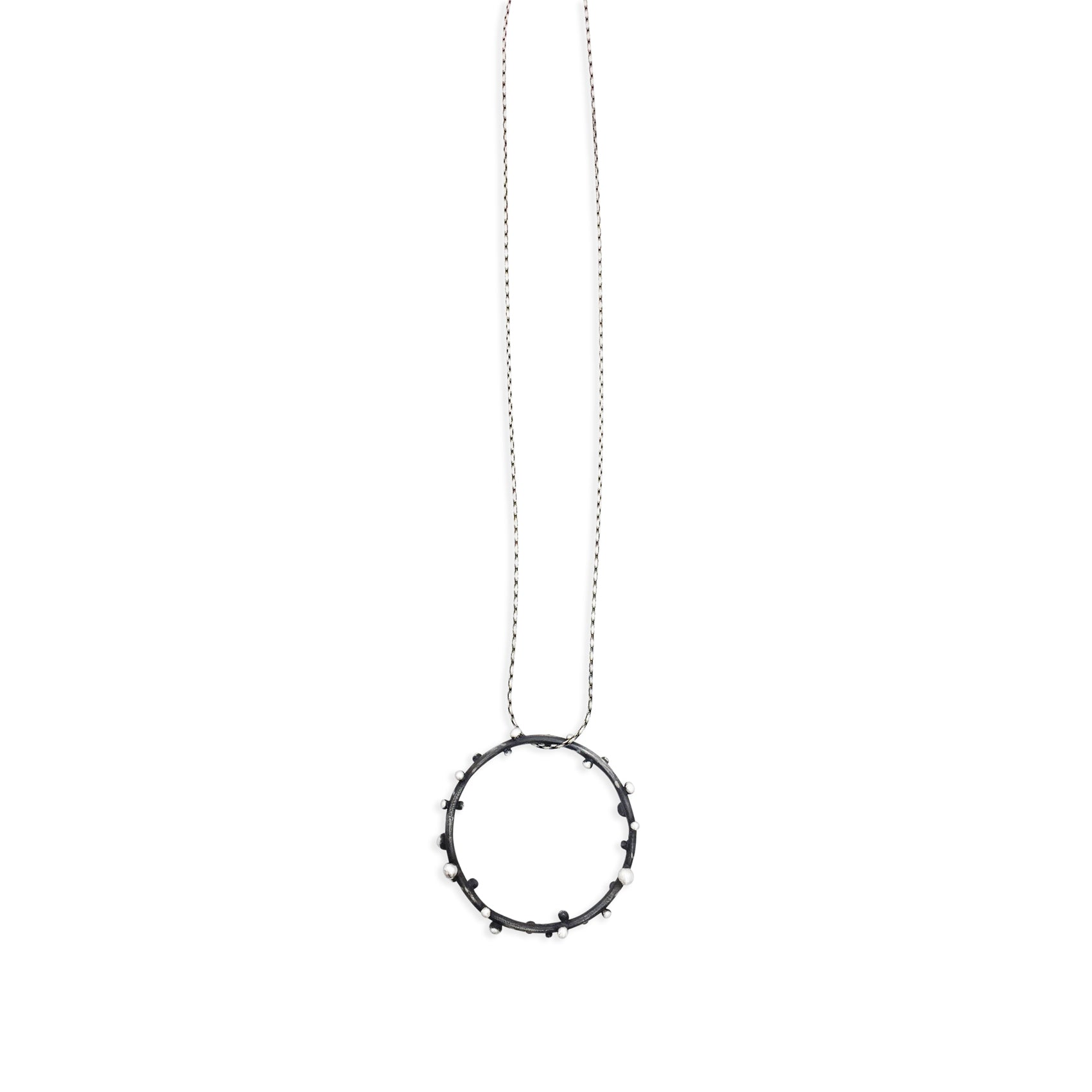 Circle Dot Necklace - 18 Inches
