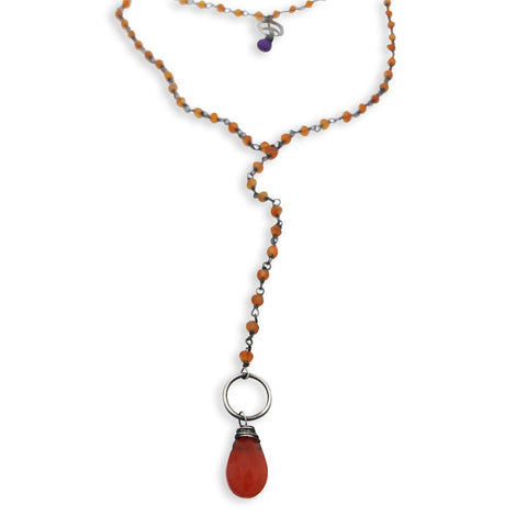 Carnelian Peace Necklace