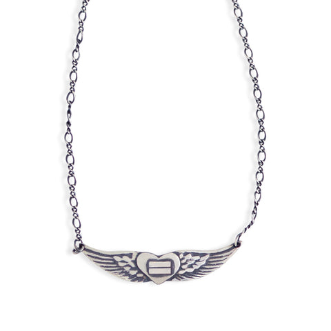 Equals Angel Wings Necklace