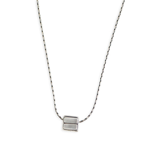 Equals Cube Necklace