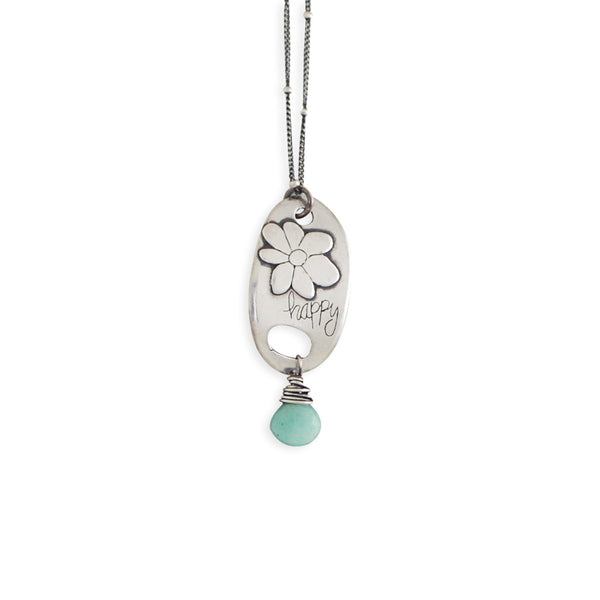 Happy Flower with Amazonite