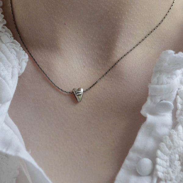 Small Puffy Equals Heart Necklace