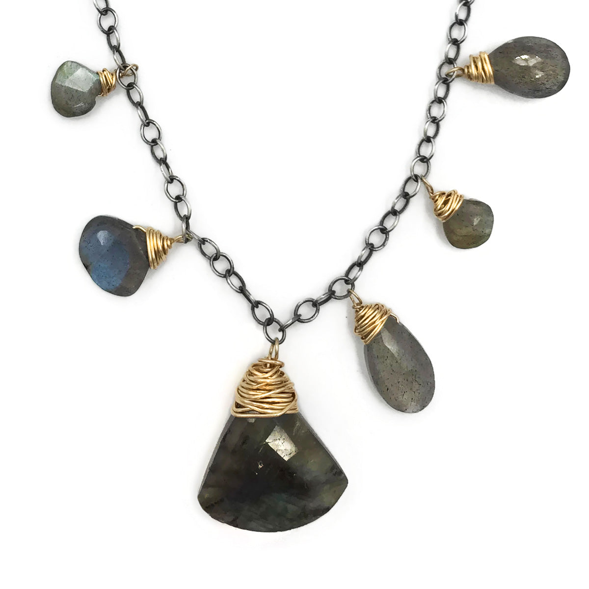 Labradorite Necklace with 14kt gold filled wire