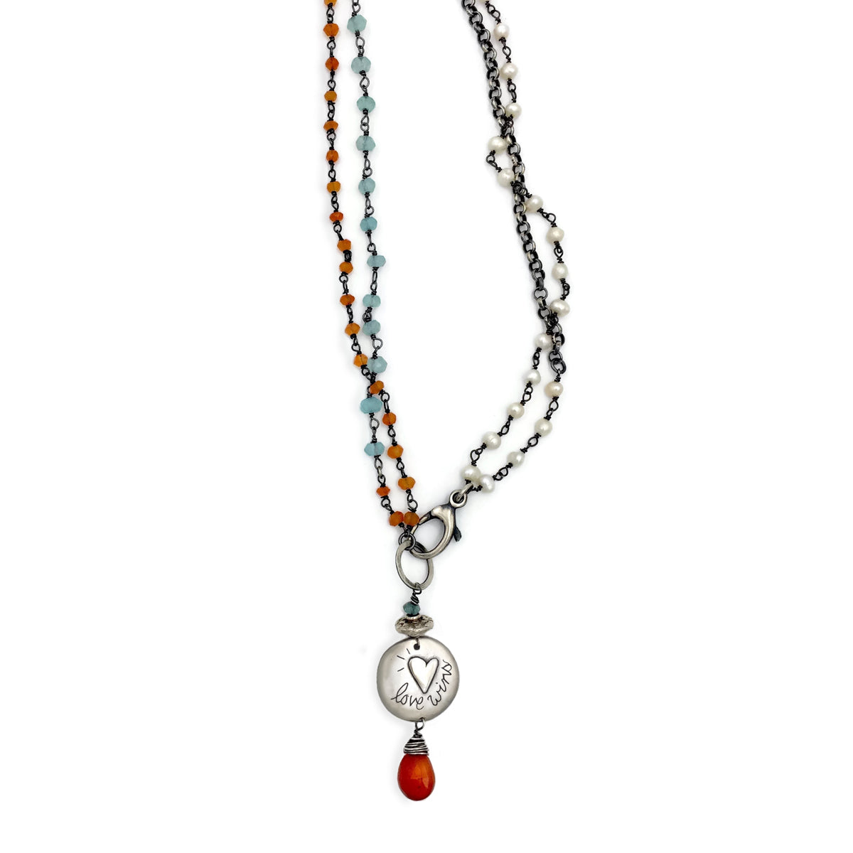 Love Wins on Rosary Chain - 18 Inches