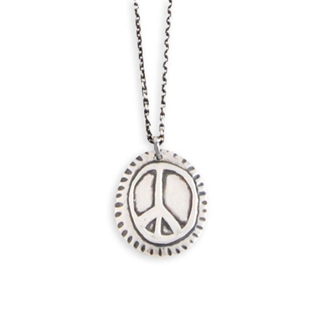 Circle Peace Sign Necklace
