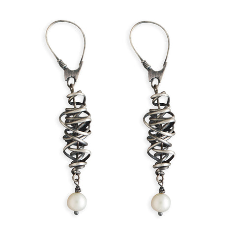Pearl Whirling Dervish Earrings