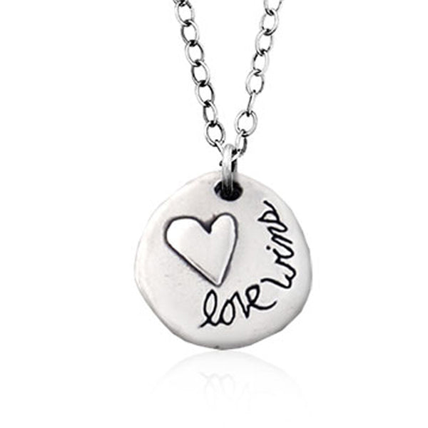 Small Love Wins Necklace