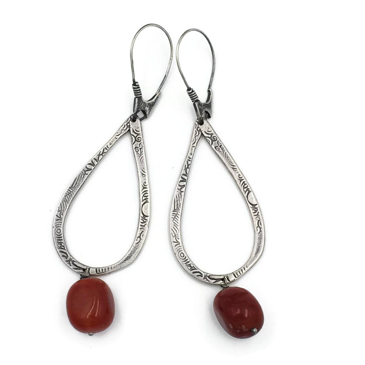 Teardrop with Carnelian drop