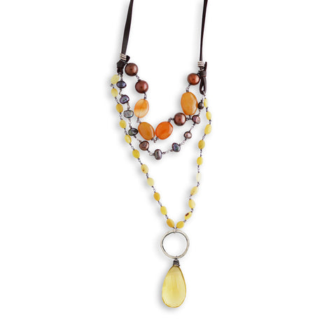 Topaz Drop Necklace