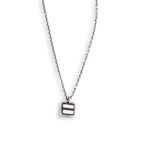Small Equals Charm Necklace