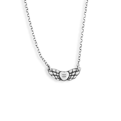 Small Angel Wings Necklace