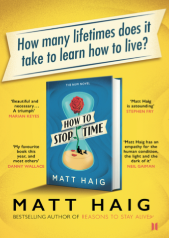 How to Stop Time by Matt Haig - Free library POS