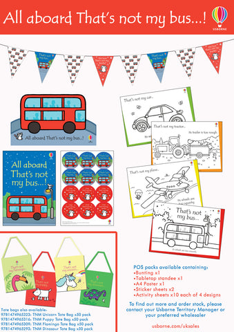 All aboard! Go on a sensory journey with a That's not my bus… Event Pack (*CLOSES MONDAY*)