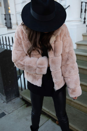 Tia Faux Fur Bomber Coat