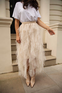 Naomi Frilled Midi Skirt