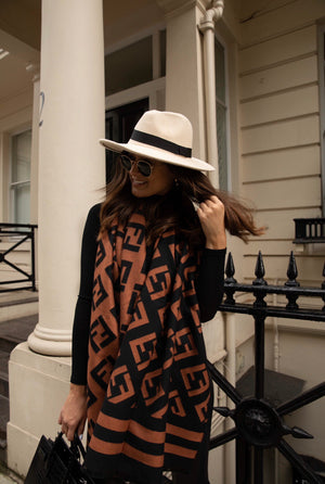 Maya Luxe printed scarf