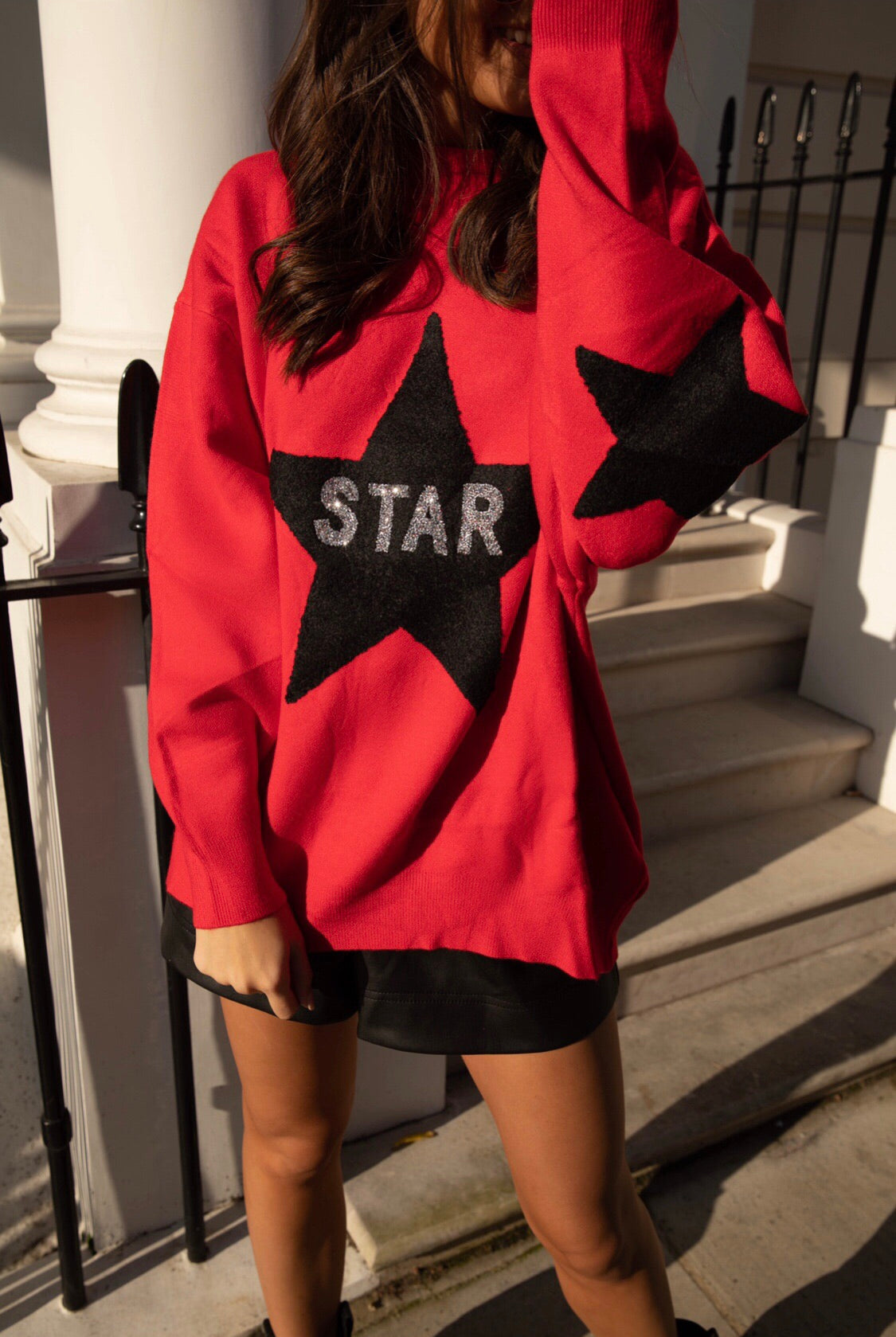 Elise Embellished Star Jumper