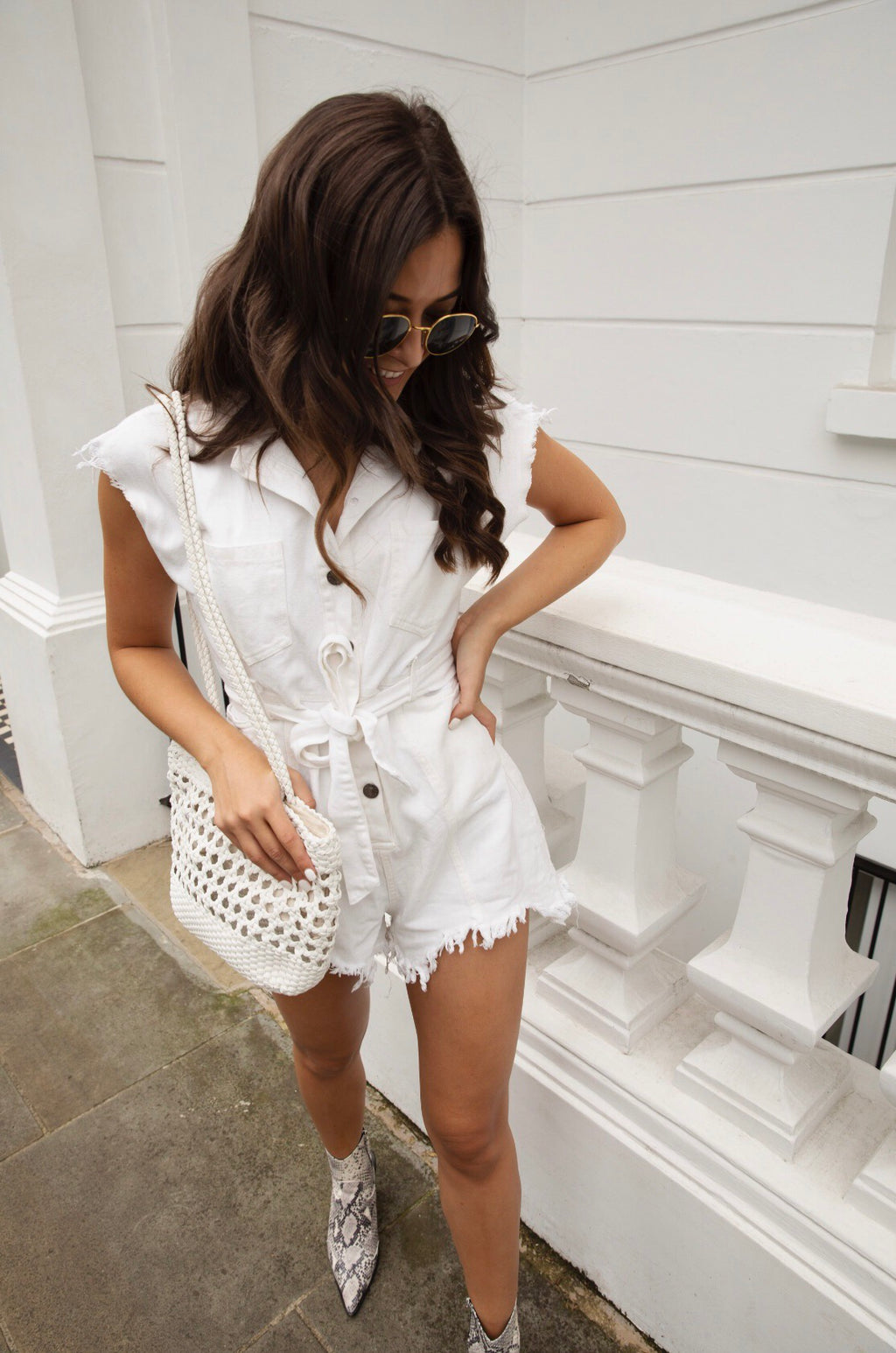 Samira Denim Playsuit