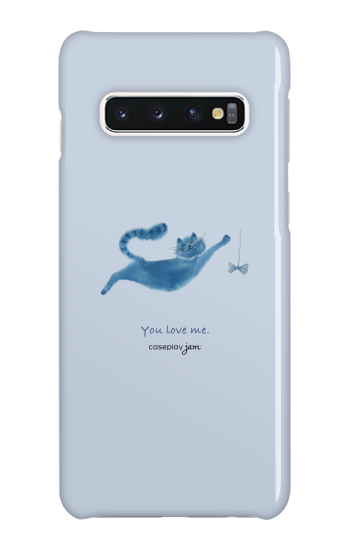 You Love Cat [ ハードケース(光沢) for Galaxy S10 ]