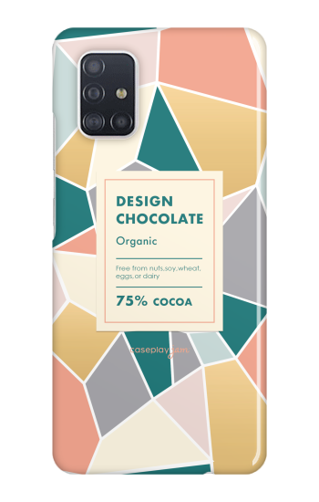 Palette Design Chocolate [ ハードケース(光沢) for Galaxy A51 ]