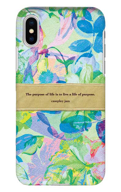 shabbyフラワー [ ハードケース(光沢) for iPhone XS ]