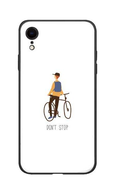 Dont stop [ ガラスケース(黒) for iPhone XR ]