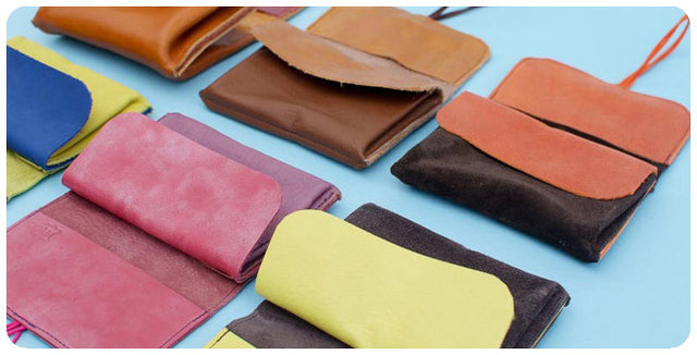wallet orange brown