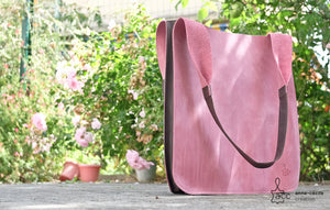 Sac cabas en cuir rose - ProductImage-17794075263134