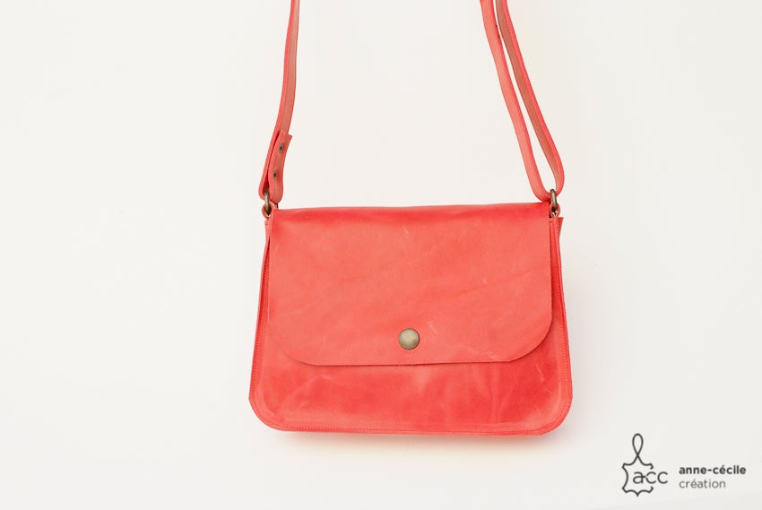 Handbag women red leather