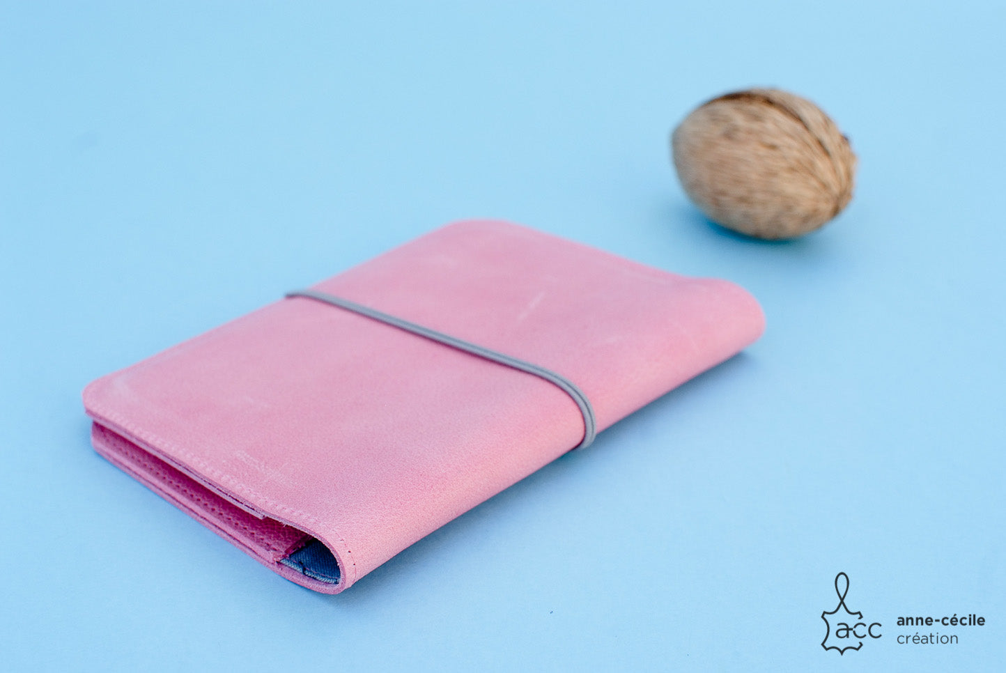 Couverture passeport cuir rose