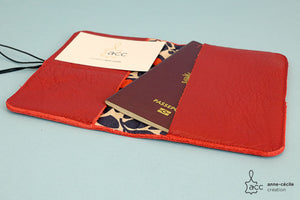 Bordeaux passport holder and red cards