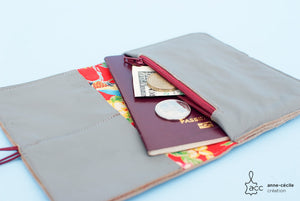 Grey leather wallet vintage - ProductImage-14340439507044