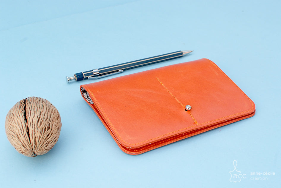 orange zip wallet