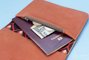Brown camel leather wallet  - ProductImage-14340122738788