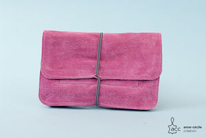 Soft leather pink tobacco pouch