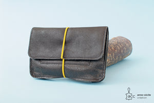 black leather tobacco pouch - ProductImage-17308747497630