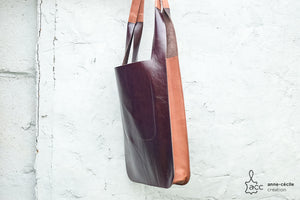 CREATIONACC - sac cabas marron camel